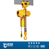 Mostly yellow color Chain block with motor trolley travel on single beam