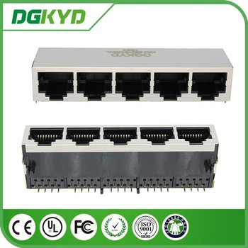 Shielded 5 Ports Rj45 Connector,1x5,8p8c Network Jack - Buy 5 Ports ...