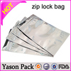 YASON soft loop handle ldpe material plastic bags zip lock reclosable plastic bags printed plastic bag for dry fruit packaging