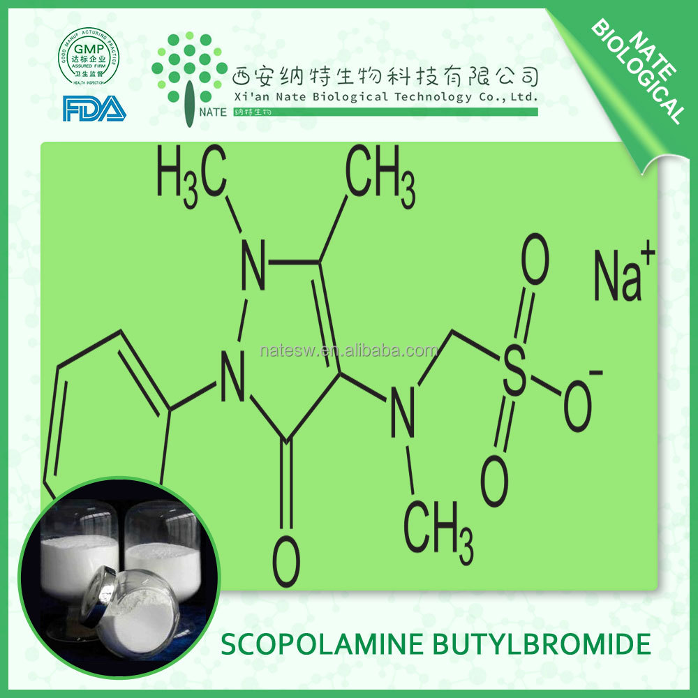 Treat for gastrointestinal spasm product of Scopolamine Butylbromide powder with 99%