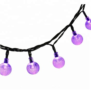 Garden Shrub Decoration Solar Power Crystal Ball String Light