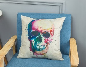 Punk Skull Print Pillow Room Decorative Cushion for Home