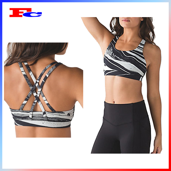 Dry fit women wholesale custom yoga wear sports bra and shorts set