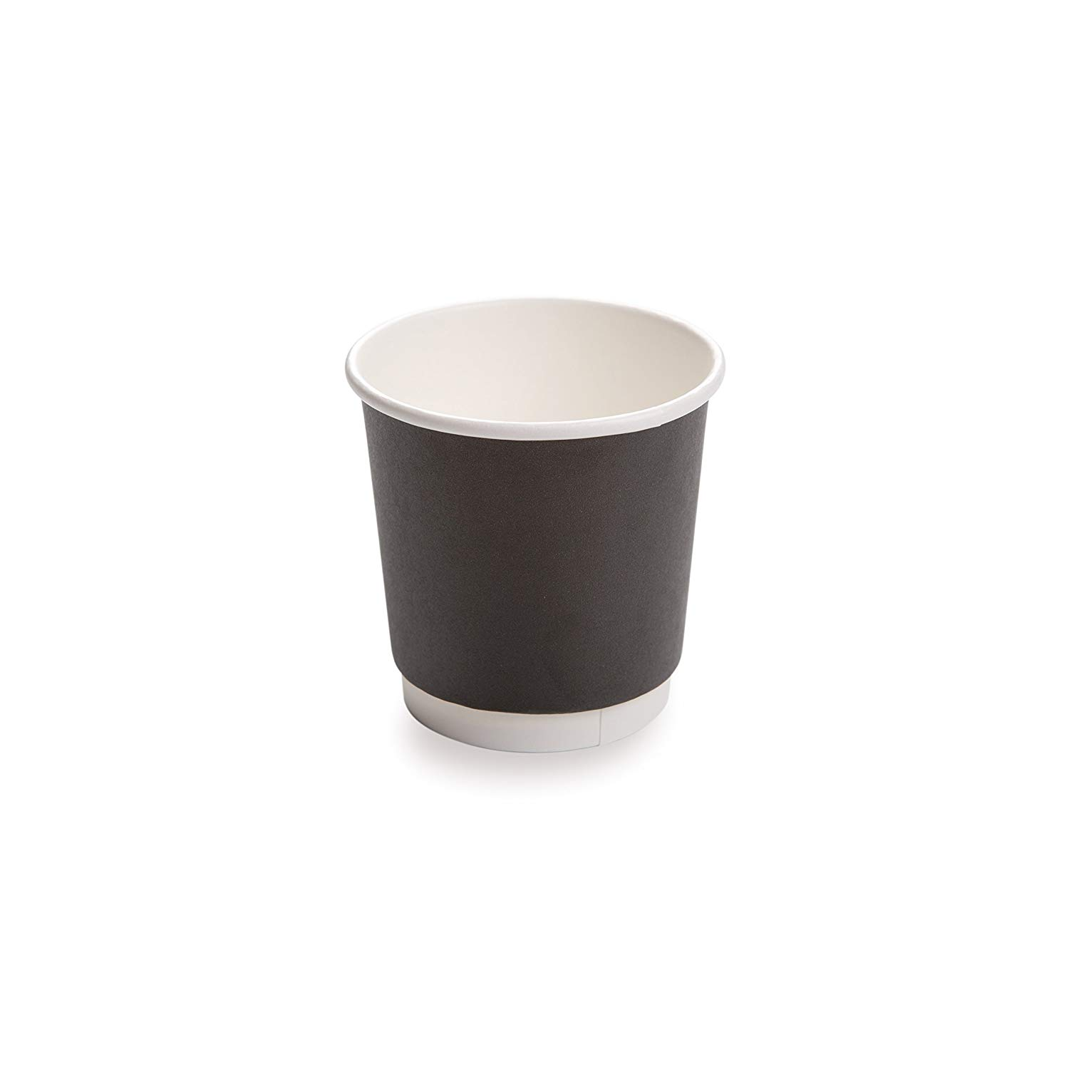 Get Quotations 25 CT Disposable Black 4 OZ Hot Beverage Cups With Double Wall Design
