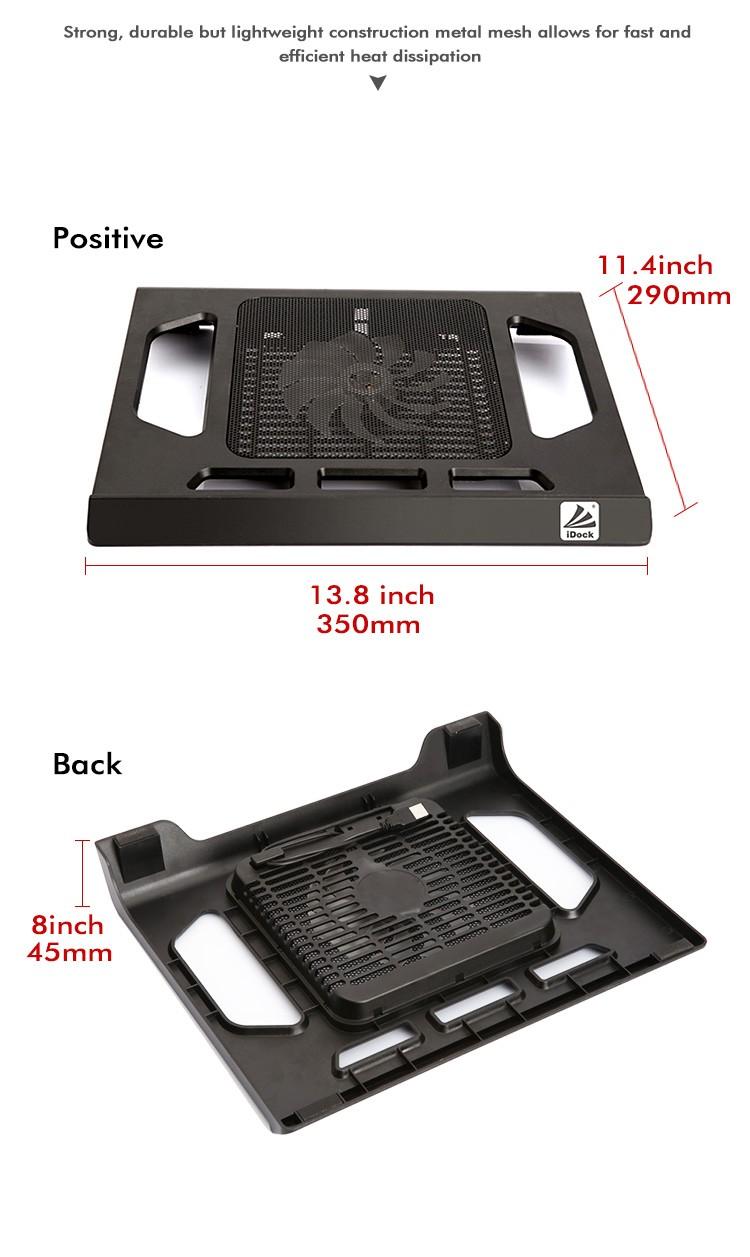Металлическая сетка + пластик один 14 см большой СВЕТОДИОДНЫЙ вентилятор ноутбука стенд с usb-вентилятор Оптовая продажа, изготовление, производство