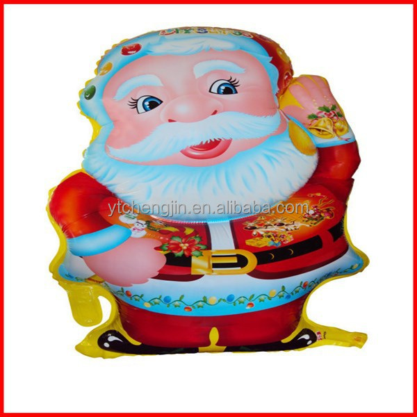 Fashion Promotional funny father christmas foil balloon With Hlium Filled foil balloon
