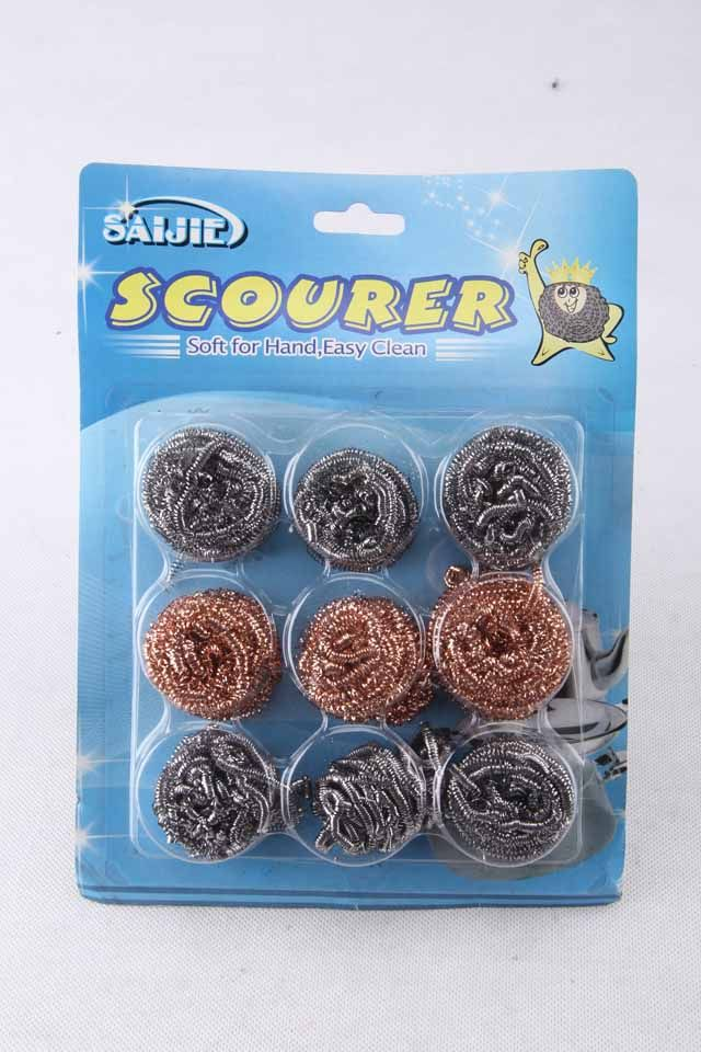 High Quality 9 PCS/PACK Stainless Steel Scourer Ball Set