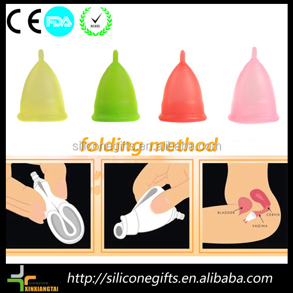 women hygiene vagina soft reusable medical silicone menstrual cup