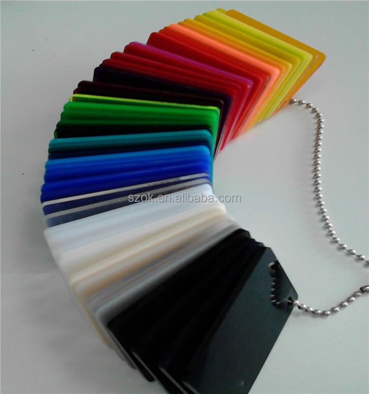 High quality handmade custom colorful acrylic 2mm sheet