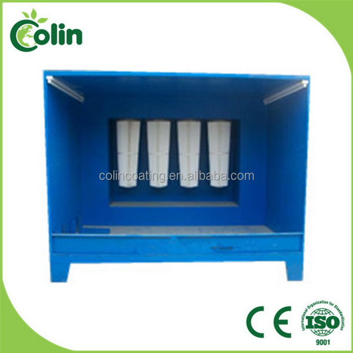 B-549 Metal Coating Machinery Industrial Powder Painting Booth ...