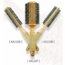 Foam Handle Wooden Barrel Bristle Hair Brush KA1106-KA1108