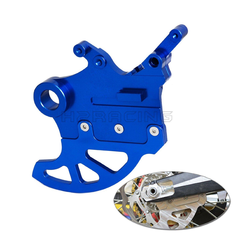 H2RACING Motorcycle Blue Shark Fin Brake Disc Protector Guard Racing Pro For YAMAHA YZ250F YZ450F 2009 2010 2011 2012 2013 2014 2015 2016