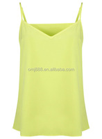 New Green Silk Fabric Ladies One Piece Camisole