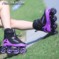 Professional Top quality four pu wheels adjustable inline skates flashing roller