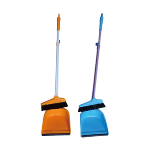 Sweep home steel handle plastic broom and dustpan sets