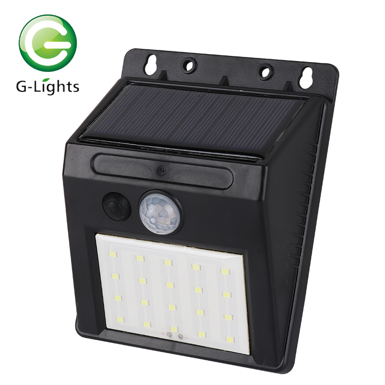 Great Cheap price 3w 6w 12w mini outdoor solar powered heat All in one garden solar led wall lamp