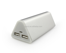 CE/ROHS/FCC Approved Portable Mobile Charger, 18650 double Battery Power Bank 7800mAh, laptop battery charger with Suction