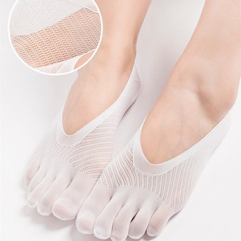 Summer Women s Mesh Breathable No Show Invisible Five Toe Socks ... 886161bf85