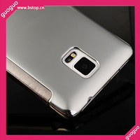 Alibaba Case Supplier Mobile Phone Flip Wallet Mirror Cover for Samsung Galaxy Note 4