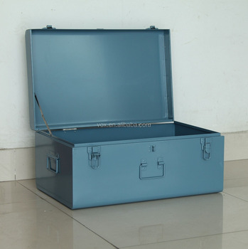 Galvanized Iron Metal Storage Trunk Box