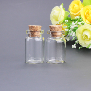 mini clear glass drift bottle with cork