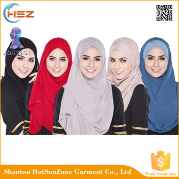 Zakiyyah 104 China wholesale tudung hot arab hijab instant hijab vietnam