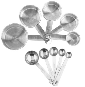 Hot Sale Stainless Steel Measuring Tools For Kitchen Measuring Cups And  Spoons Set Of 10 - Buy Measuring Cup And Spoon,Measuring Cup And Spoon ...