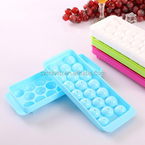 Custom Ice Cube Molds Eco Friendly Food Grade Silicone Ice Cube Trays Round Ice Ball Tray