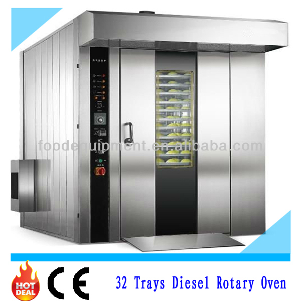 32 Trays Big Volume Diesel Rotary Oven