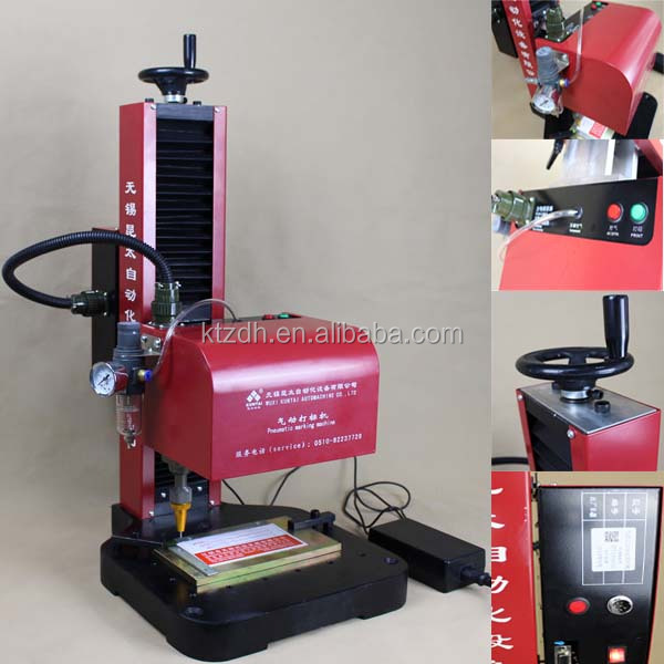 line or dot peen automatic pneumatic marking machine for ear tags, purchase dot peen marking systems