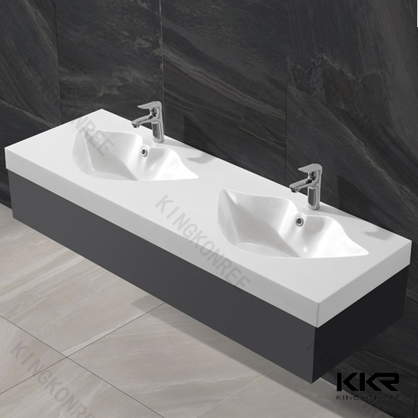 Double Bowl Bathroom Sink