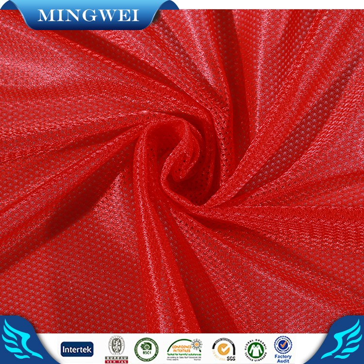 China supplier make to order Zhejiang textile 100 polyester sportswear fabric polyester tricot mesh