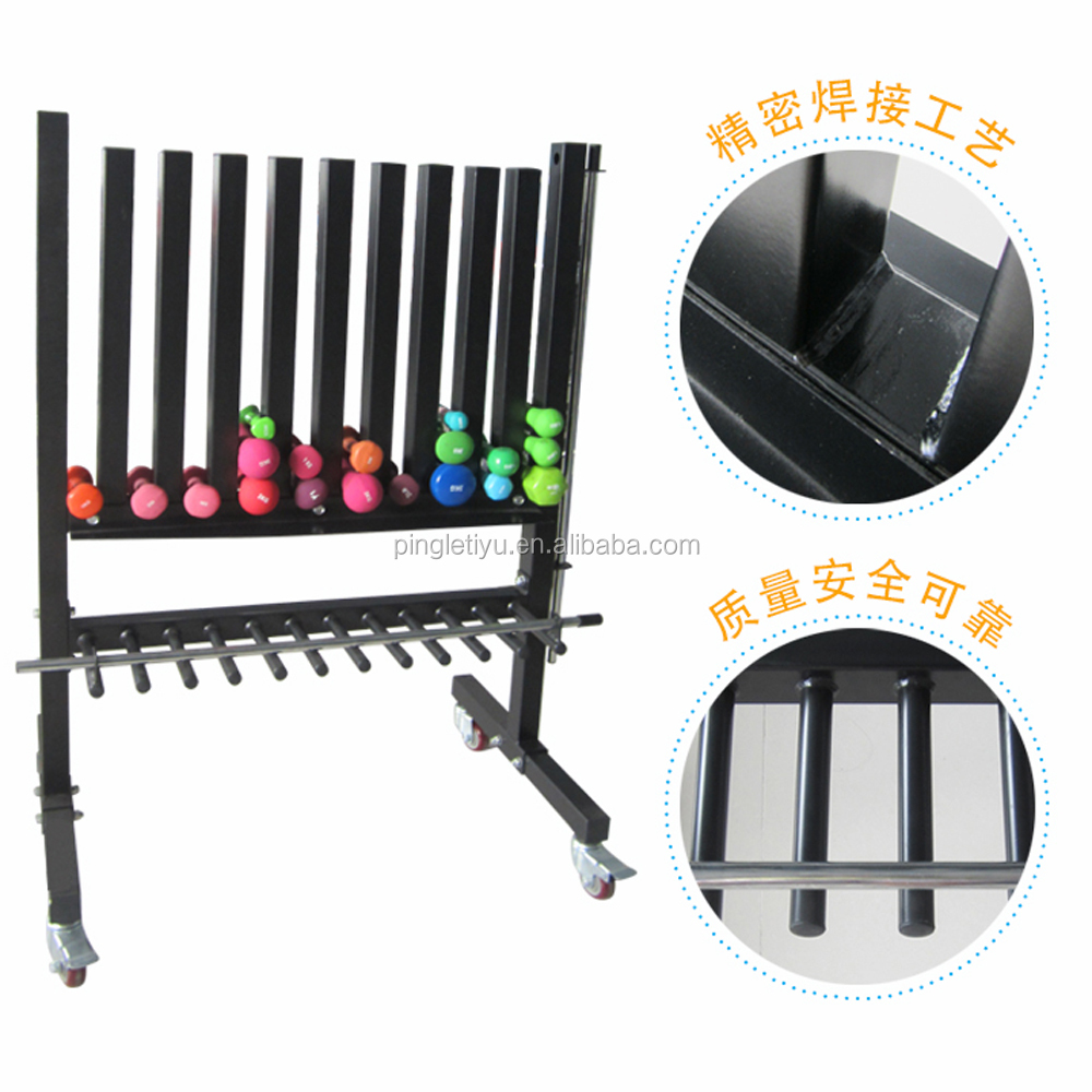 10 Pairs Dumbbell Sets / Fitness Products Vinyl Dumbbell Rack