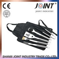5 pcs stainless steel bbq/barbecue tool set with carrying case