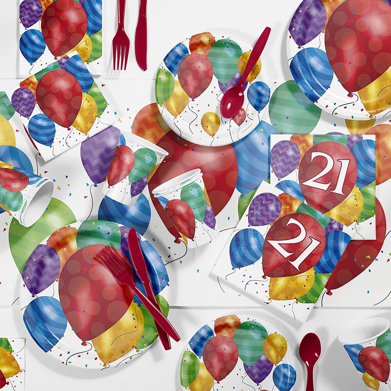 Balloon Blast 21st Birthday Party Supplies Kit