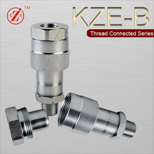 KZE-B female & male threaded locked type hydraulic fuel quick coupling