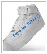 Унисекс средняя верхний все белый скейтбординг обувь унисекс все черный athletic обувь унисекс midcut тренировка обувь Sz 36 - 46