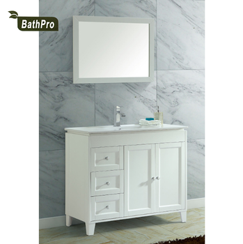 40 Inch White Ceramic Single Sink Solid Wood Lowes Vanity Bathroom