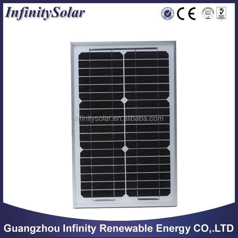 Monocrystalline Solar Panel with 36 4 x 9 Cells and 21.5V Open circuit Voltage