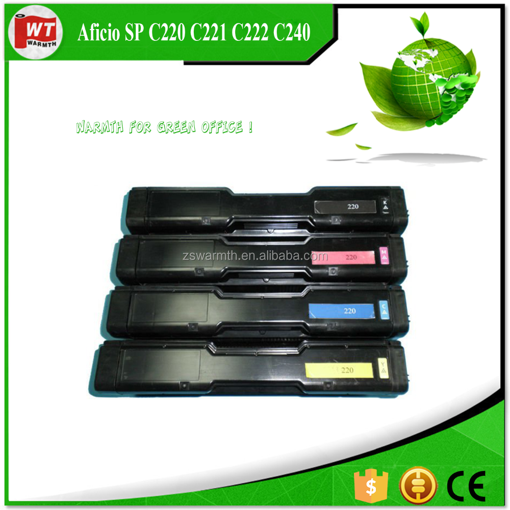 factory premium Toner cartridge for 406046 (BK) for Ricoh Aficio SP C220 C221 C222 C240