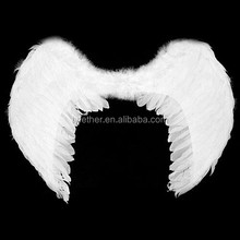 cheap hot sale fashion party decoration feather human white angel wings wing for sale