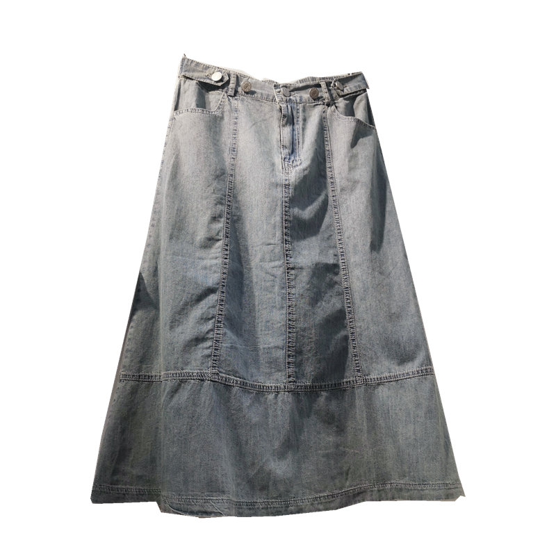 8a9789ee8 Venta al por mayor jean diseño faldas largas-Compre online los ...