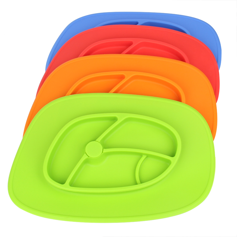 Non-Slip Heat-Resistant 100% Food Grade Silicone Baby Placemat Plate