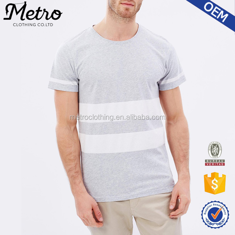 2017 New Casual Style Men's White And Grey T-shirt