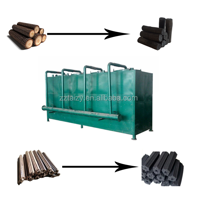 Lifting carbonisatie oven voor kokosnoot/hout/bamboe/amandel shell/palm shell machine