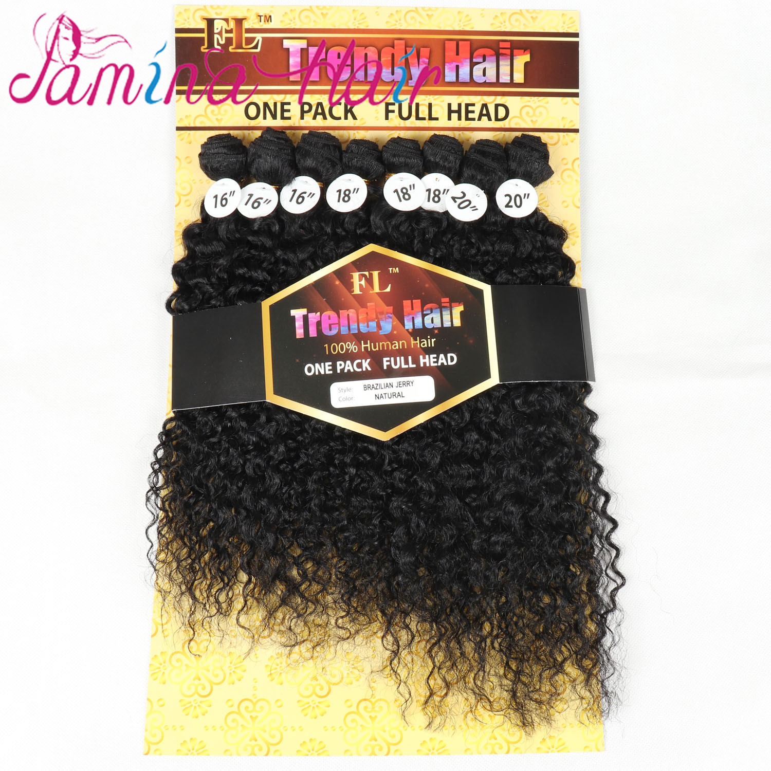 Wholesale One Package For One Head <strong>Virgin</strong> <strong>Brazilian</strong> Jerry Curly Human <strong>Hair</strong> <strong>Bundles</strong> Weave Extensions 16&quot; 18&quot; 20&quot;