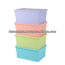 Felton Plastic Storage Box for Clothes with Pastel Color Toy
