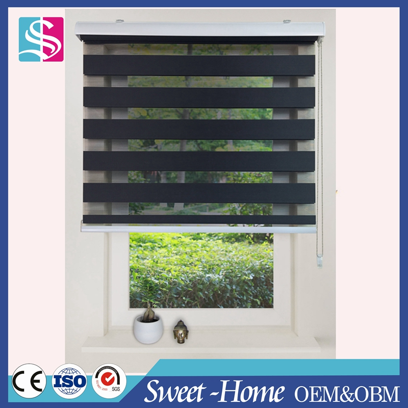 wholesale blackout double layer window zebra blinds/shade at a factory price