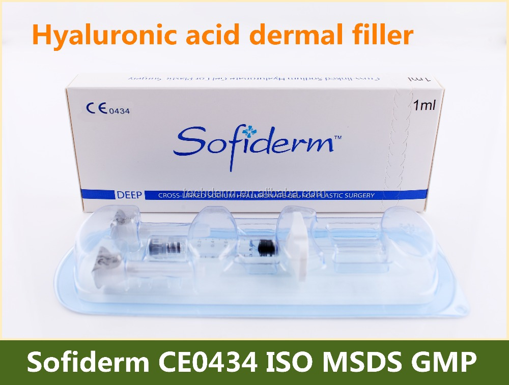 Anti aging face use injectable hyaluronic acid dermal filler for plastic surgery