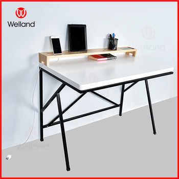 stylish study table computer desk made of wood and metal buystylish study table computer desk made of wood and metal
